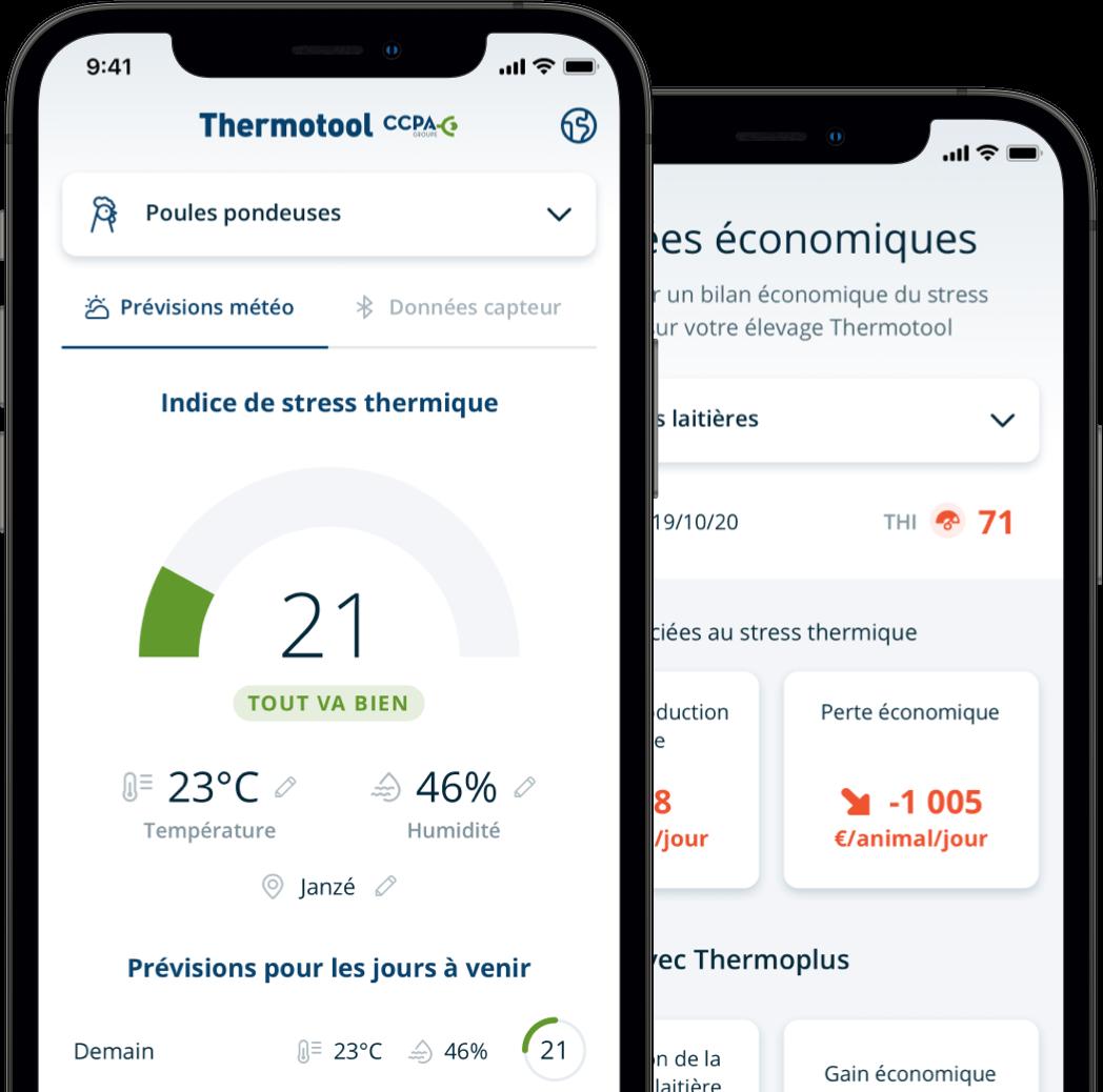 ThermoTool app screenshots